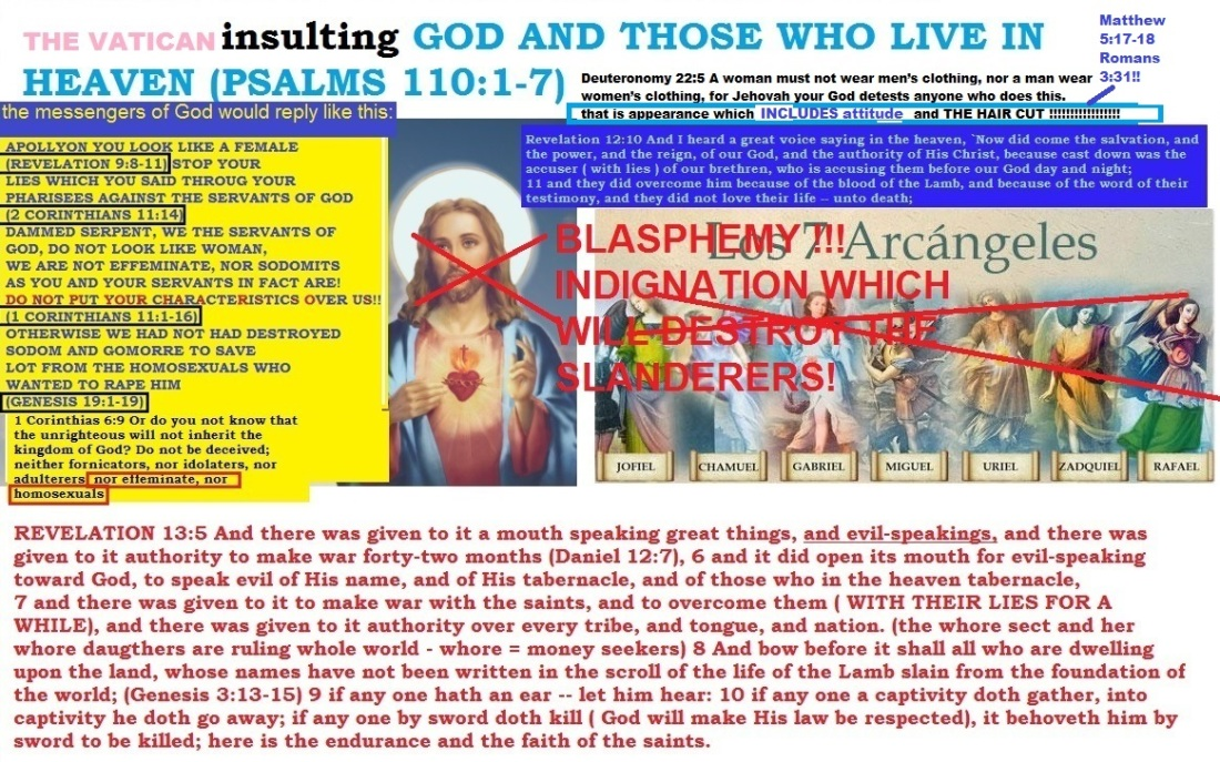 VATICAN INSULTING GOD AND HIS SONS